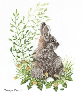 Class 21C -needle-painting-wild-rabbit-tanja-berlin1